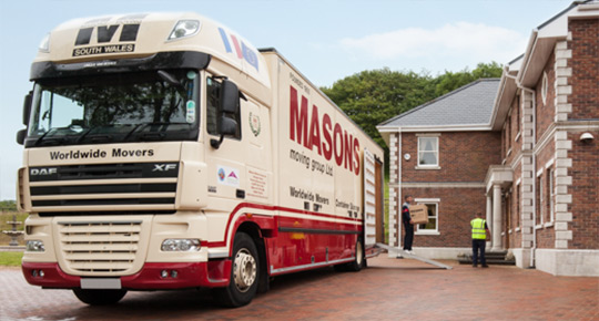 Masons Removals Cardiff moving van
